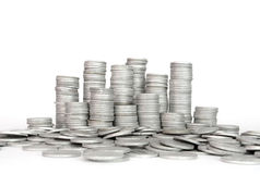 Stack Silver Coin, Success Stock Photography