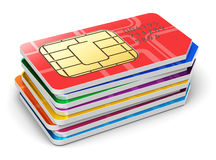 Stack of SIM cards Royalty Free Stock Image
