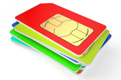Stack of SIM cards Stock Photography