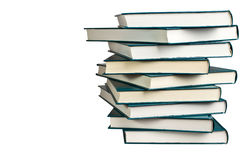 Stack of similar books Stock Image