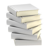 Stack of six silver books isolated Royalty Free Stock Images