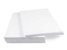 Stack of a4 size white paper sheet Royalty Free Stock Images