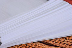 Stack of a4 size white paper sheet Stock Photos