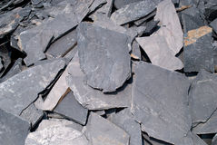 Stack of slate tiles. Royalty Free Stock Photo