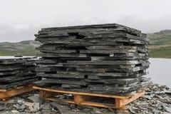 Stack of slates in Peska Alta Stock Image