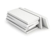 Stack sleeping soft mattress. On white background Royalty Free Stock Photo