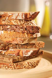 Stack of Slice Bread. Composition of stack of slice bread stock photo