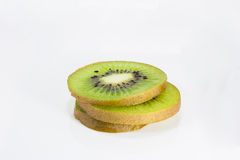 Stack slice kiwi fruit Stock Image