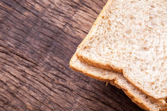 Stack of slice whole wheat bread Stock Photo