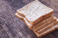 Stack of slice whole wheat bread Royalty Free Stock Image