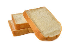 Stack of sliced American white bread on white Stock Photography
