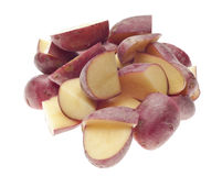 Stack of Sliced Baby Red Potatoes Royalty Free Stock Photos