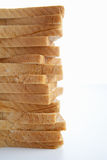 Stack of sliced bread. Side stack of sliced bread Stock Photography