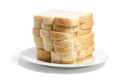 Stack of Sliced Bread on Plate Stock Photos