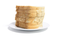 Stack of Sliced Bread on Plate Royalty Free Stock Photography