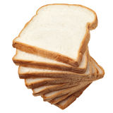 Stack of sliced bread on white background Stock Photos