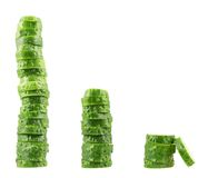 Stack of sliced fresh cucumber pieces Royalty Free Stock Photo