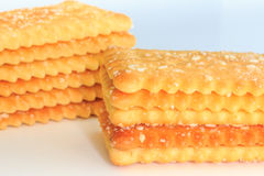 Stack Of Slices of Crispbread. Stock Photo