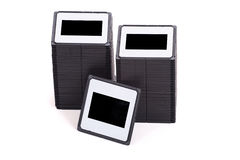 Stack of slides Royalty Free Stock Photography