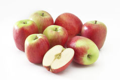 Stack of small apples Royalty Free Stock Photo