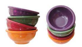 Stack of small bowls Royalty Free Stock Images