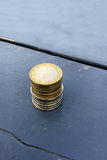 Stack of small change Euro money coins Stock Photography