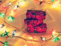 Stack of small gifts Royalty Free Stock Images