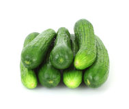 Stack Small Seedless Cucumbers Royalty Free Stock Image
