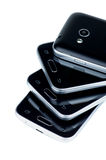 Stack of Smartphones Stock Photography