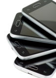 Stack of Smartphones Stock Images