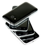 Stack of Smartphones Royalty Free Stock Photography
