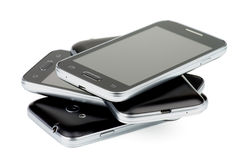 Stack of Smartphones Royalty Free Stock Image
