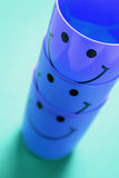Stack of Smiley Cups Stock Photos