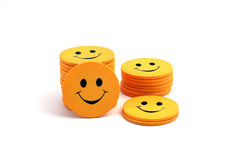 Stack of smilies.  royalty free stock image