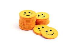 Stack of smilies.  royalty free stock photography