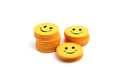 Stack of smilies.  royalty free stock photos