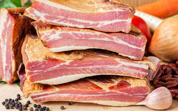 Stack of Smoked Pork Ribs royalty free stock photos