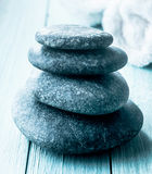 Stack of smooth spa stones Stock Images