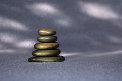 Stack of smooth stones Stock Images