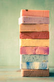 Stack of soap Stock Image
