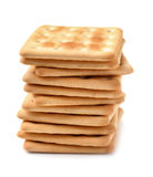 Stack of soda crackers Stock Image