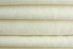 Stack of Soft Plush Blankets Stock Images
