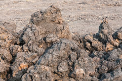 Stack of soil at construction site Royalty Free Stock Photo