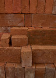 Stack solid Red Brick Royalty Free Stock Image