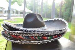Stack of Sombrero hats. Prepared for cinco de mayo celebration royalty free stock photo