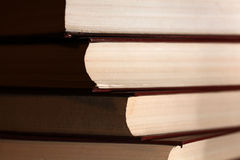 Stack of some brown books. Some brown books in a stack Stock Image