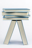 A stack of some closed blue books Royalty Free Stock Photography