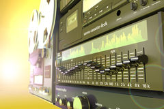 Stack of sound radio equipment 3d illustration. Royalty Free Stock Images