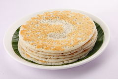 Stack of South Indian breakfast dosa. Stock Photos