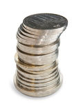 Stack of Soviet Union coins. Stock Photos